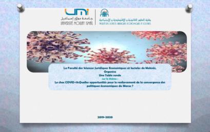 Le choc COVID-19:Quelles opportunités pour le renforcement de la convergence des  politiques économiques du Maroc ?