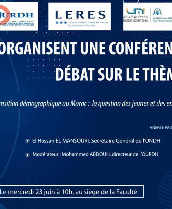 Transition démographie au Maroc:la question des jeunes et des enfants