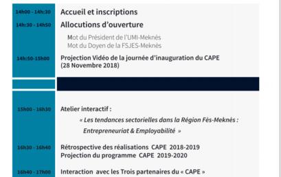 CEREMONIE DE LANCEMENT DE L'ANNEE DE CAP 2019-2020