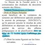 Délibération spéciale : EG2 – FD2