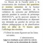 Délibération spéciale : EG6 – RF6 – EG4 – FD4