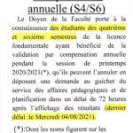 Compensation annuelle FD (S4/S6)